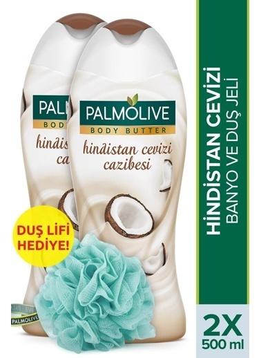 Palmolive Palmolive Body Butter Hindistan Cevizi Cazibesi 2'li Duş Jeli 500 ml ve Duş Lifi Hediyeli Renksiz